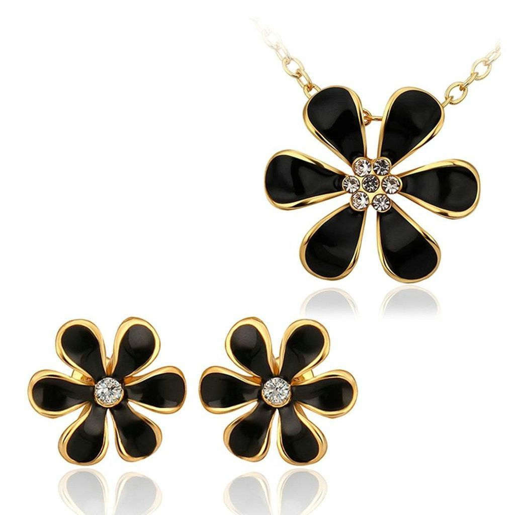 Womenus silver plated jewelry sets ring size earrings cz crystal