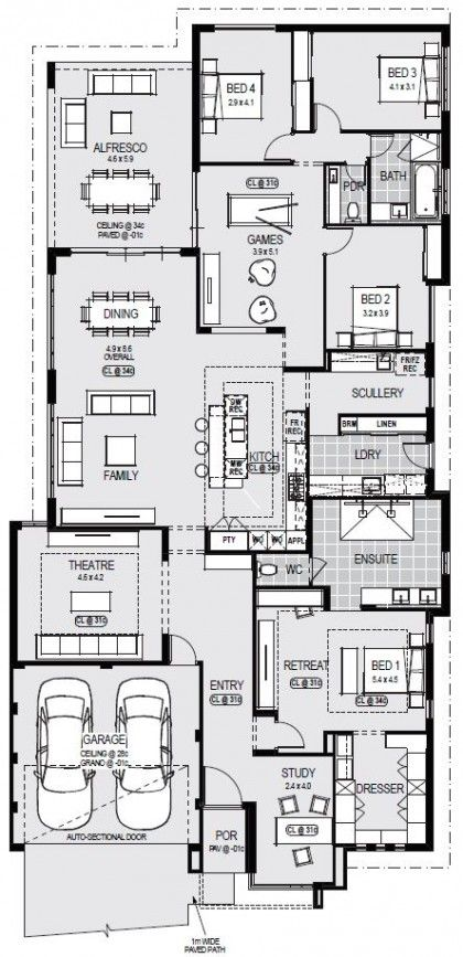 Maryland Platinum Floorplan Home Design Floor Plans House Construction Plan Dream House Plans