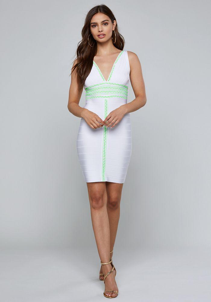 bb2fec0e258 Bebe Women s Naya Bandage Dress
