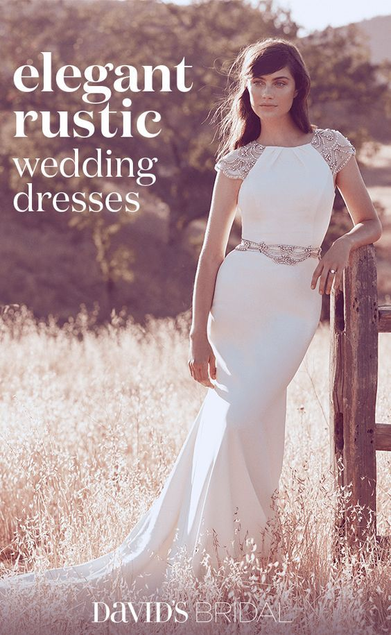 Find a lovely, yet rustic, bridal gown fit with your perfect barn ...