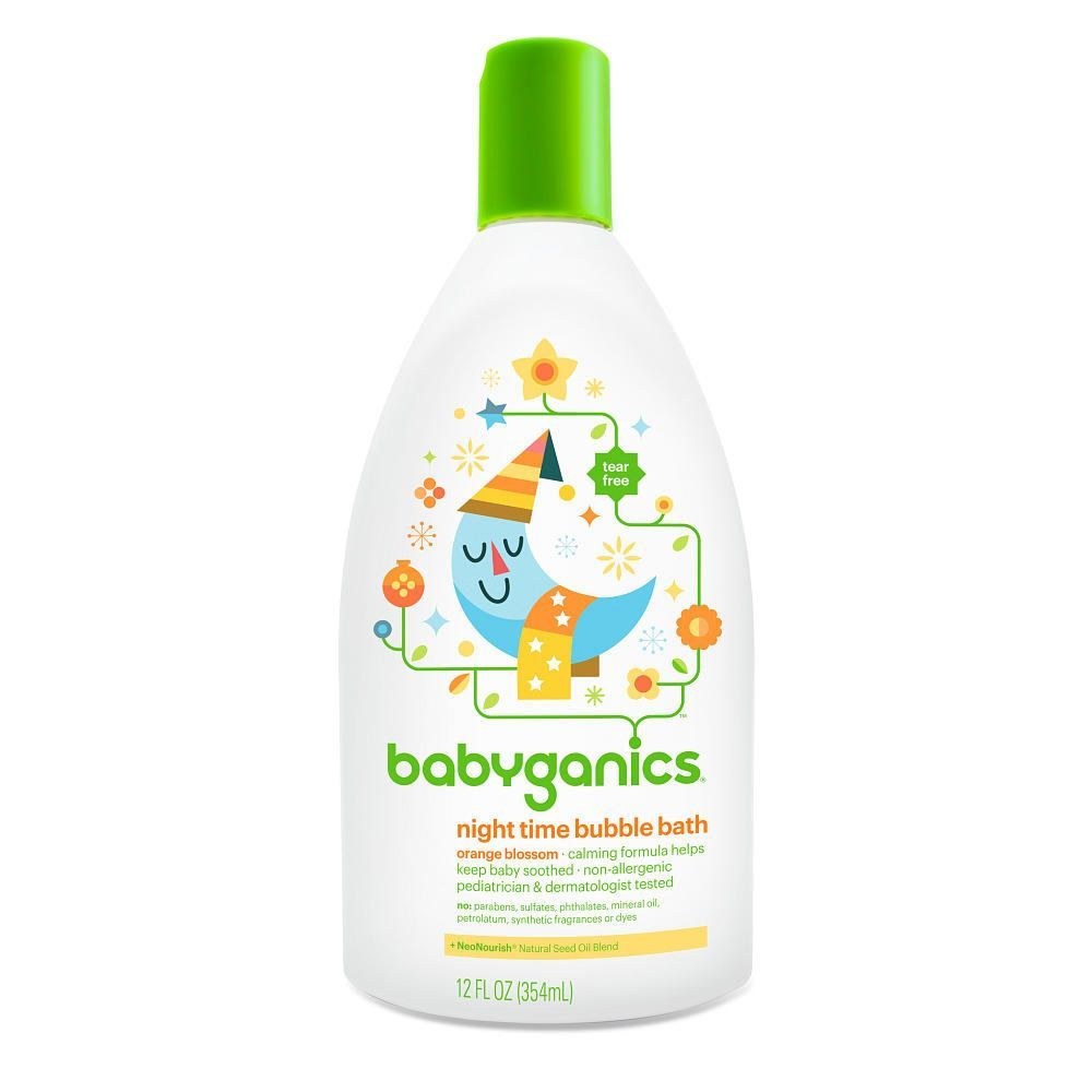 Babyganics Nighttime Bubble Bath Orange Blossom Babyganics Baby