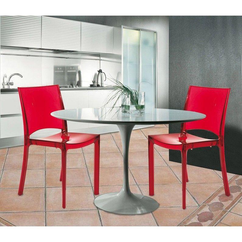 Chaise De Jardin En Polycarbonate Paris Lux Rouge Chaise De Jardin Mobilier De Salon Chaise