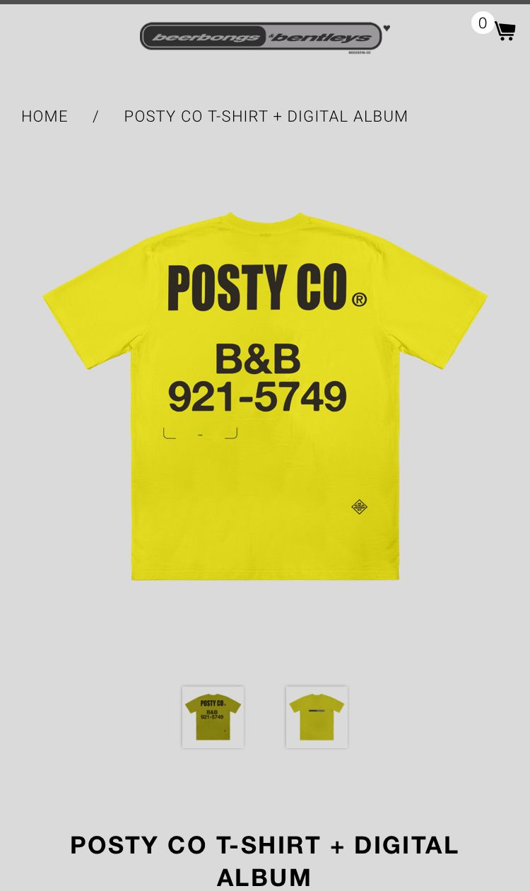 post malone merch beerbongs and bentley's | •Daddy Post in
