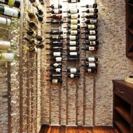 Great Easy Home Dead Spot Decoration With Horizontal Wine Rack Designs. Awesome  Horizontal Wine Rack Ideas Features Metal Hook Wine Rack And White Stone  Veneer ...