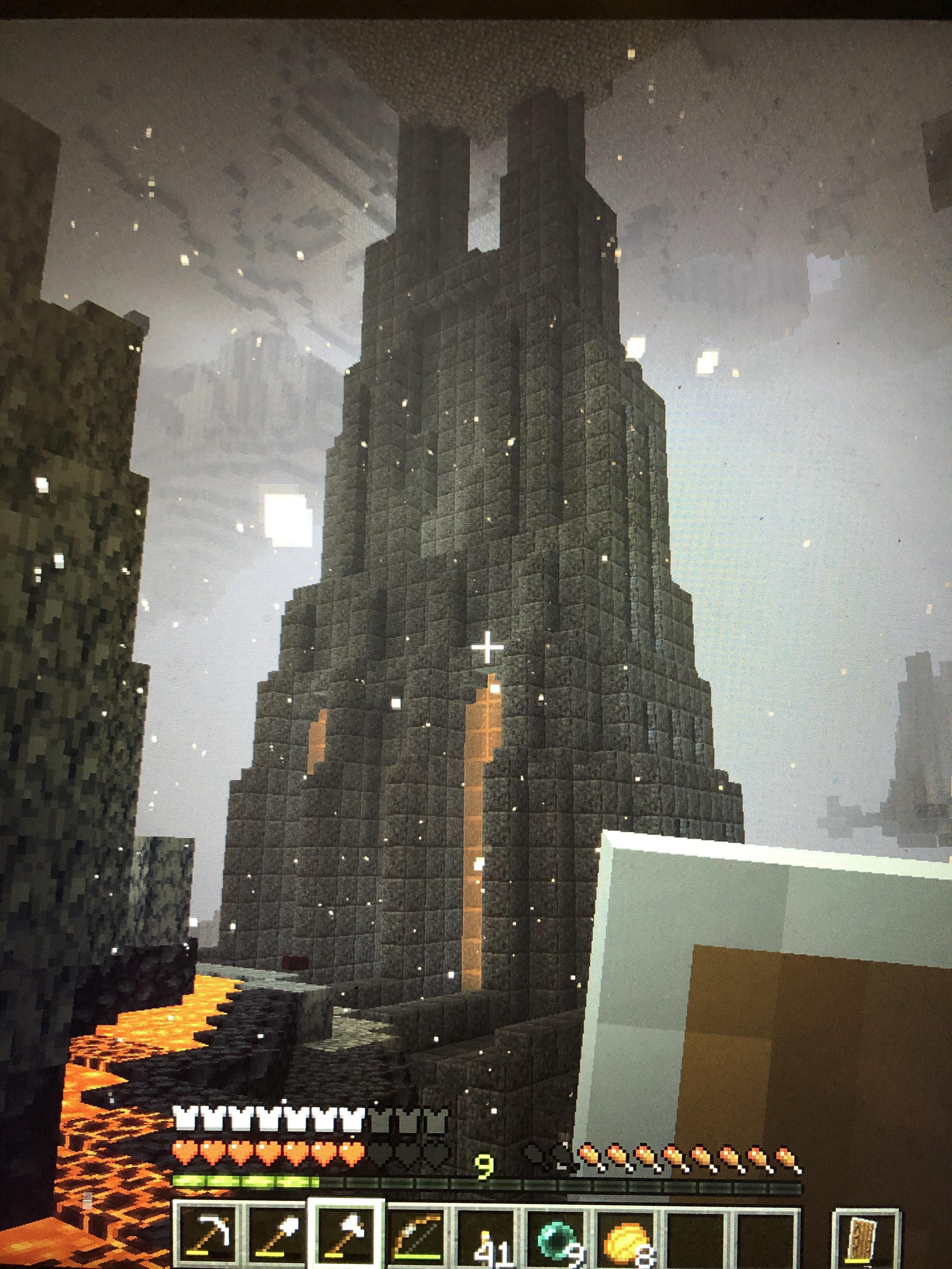 My First Starter Base In 1 16 Made Almost Entirely Of Polished Black Stone By U Dafriggintoaste In 2020 Minecraft Wallpaper Minecraft Architecture Minecraft Medieval