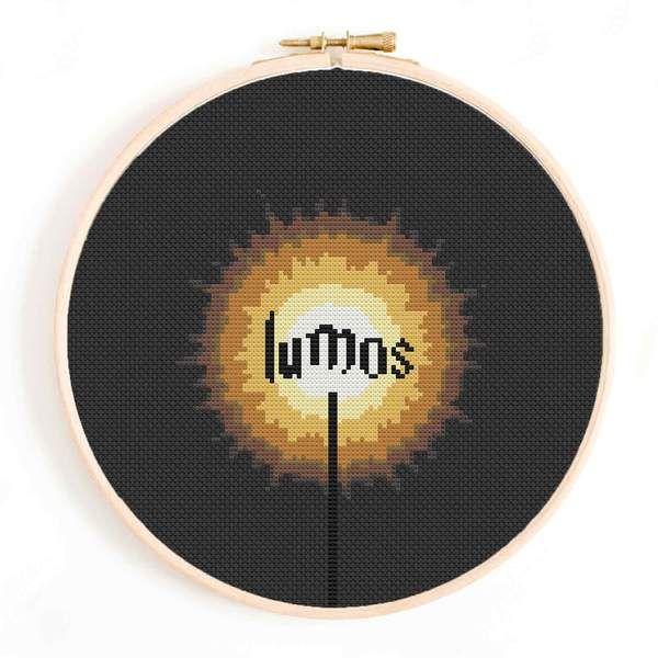 Photo of Lumos Magic Spell Cross Stitch Pattern