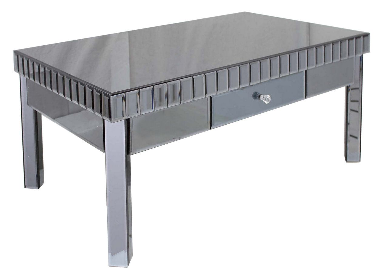 Smoked Black Mirror Coffee Table Modern Furniture And Lighting Mirrored Furniture Dining Sets Modern Mirrored Coffee Tables