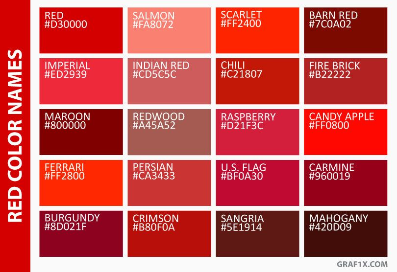 Red Color Names