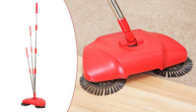 Lightweight Vortex Sweeper Banish your battered brush and replace it with the Lightweight Vortex Sweeper      Uses three rotary action brushes to collect dirt, dust and debris      Extends up to 135cm for your comfort      Inbuilt bagless bin which can be emptied with easy      Can be used on wood, laminate, carpeted and tiles floors      Edge brushes to target skirting board       Can also...