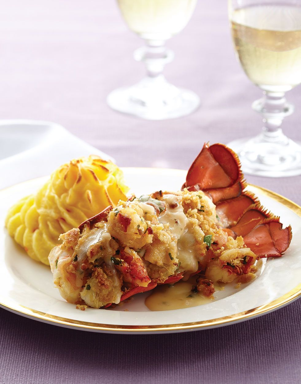 Stuffed Lobster Tails   Recipe in 2020   Lobster tails ...
