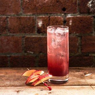 Sloe Punch: Elephant Gin, Elephant Sloe Gin, Lemon Juice, Cherry Brandy, Sugar Syrup, Cardamom Bitters, Soda, Wheel  Apple.