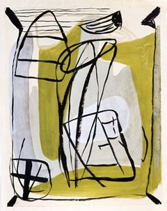 Peter Lanyon, (1918-64) #artiste #contemporain INIGOSCOUT.com, blankets, abstract art, craft, cabins, ski chalet, ski lodge, hamptons, retreat, freedom