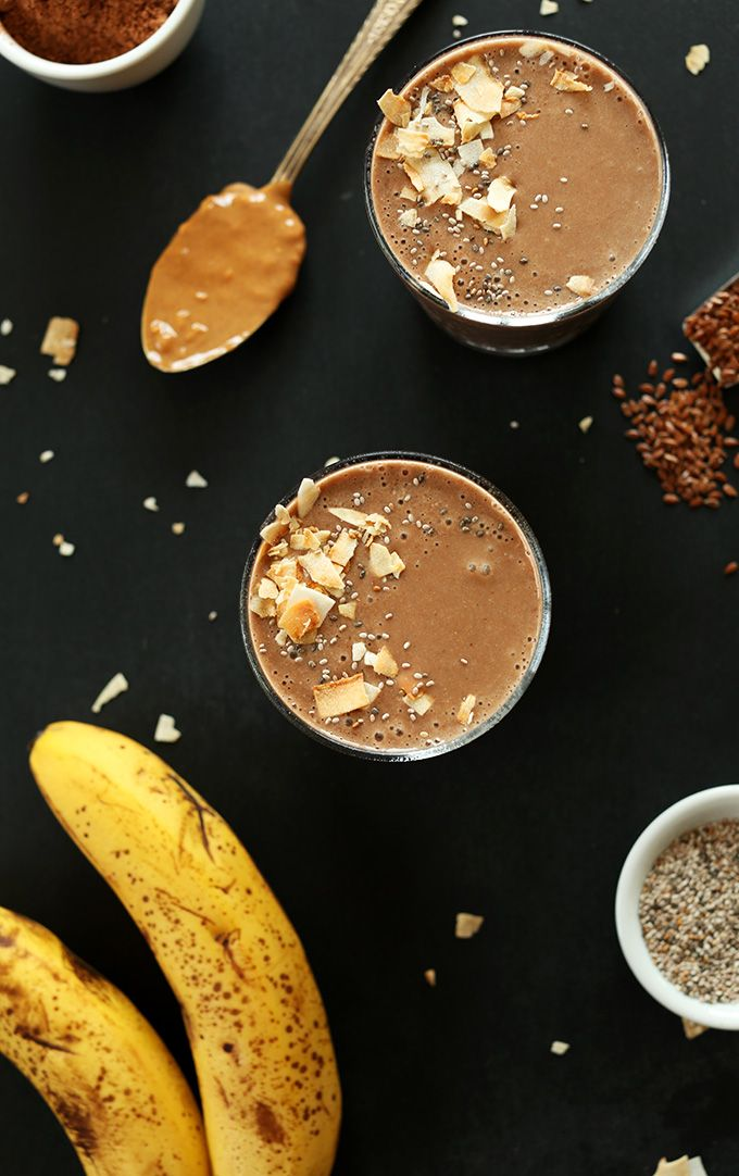 Chocolate Coconut Chia Recovery Drink! Perfect for recovering after intense workouts! So rich yet surprisingly healthy! #vegan #glutenfree