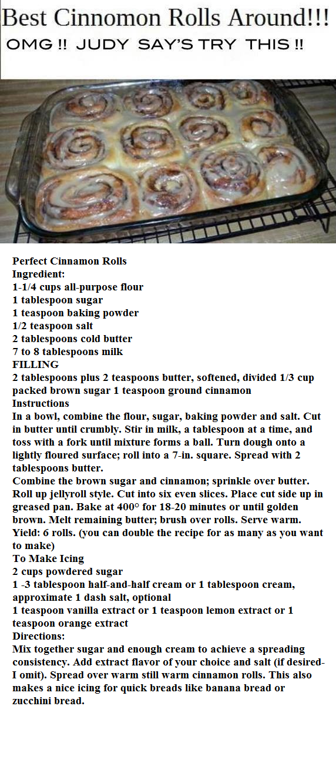 Perfect Cinnamon Rolls no yeast