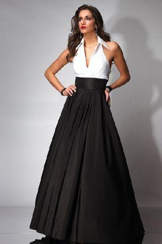 A Line Halter Taffeta Celebrities Evening Dresses Quality Unique