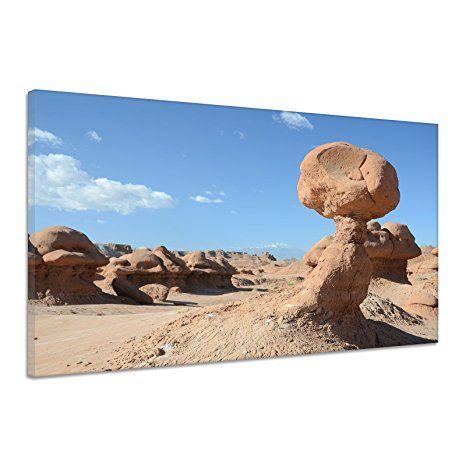 Felsen Stein Landschaft Utah Goblin Tal Wüste Leinwand Poster Druck