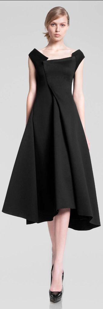Donna Karan Pre-Fall 2013. Minimalist dress with asymmetrical design.