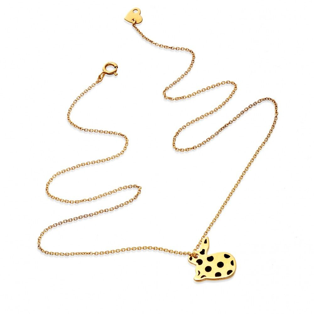 Dotty Bunny Necklace by Hillier