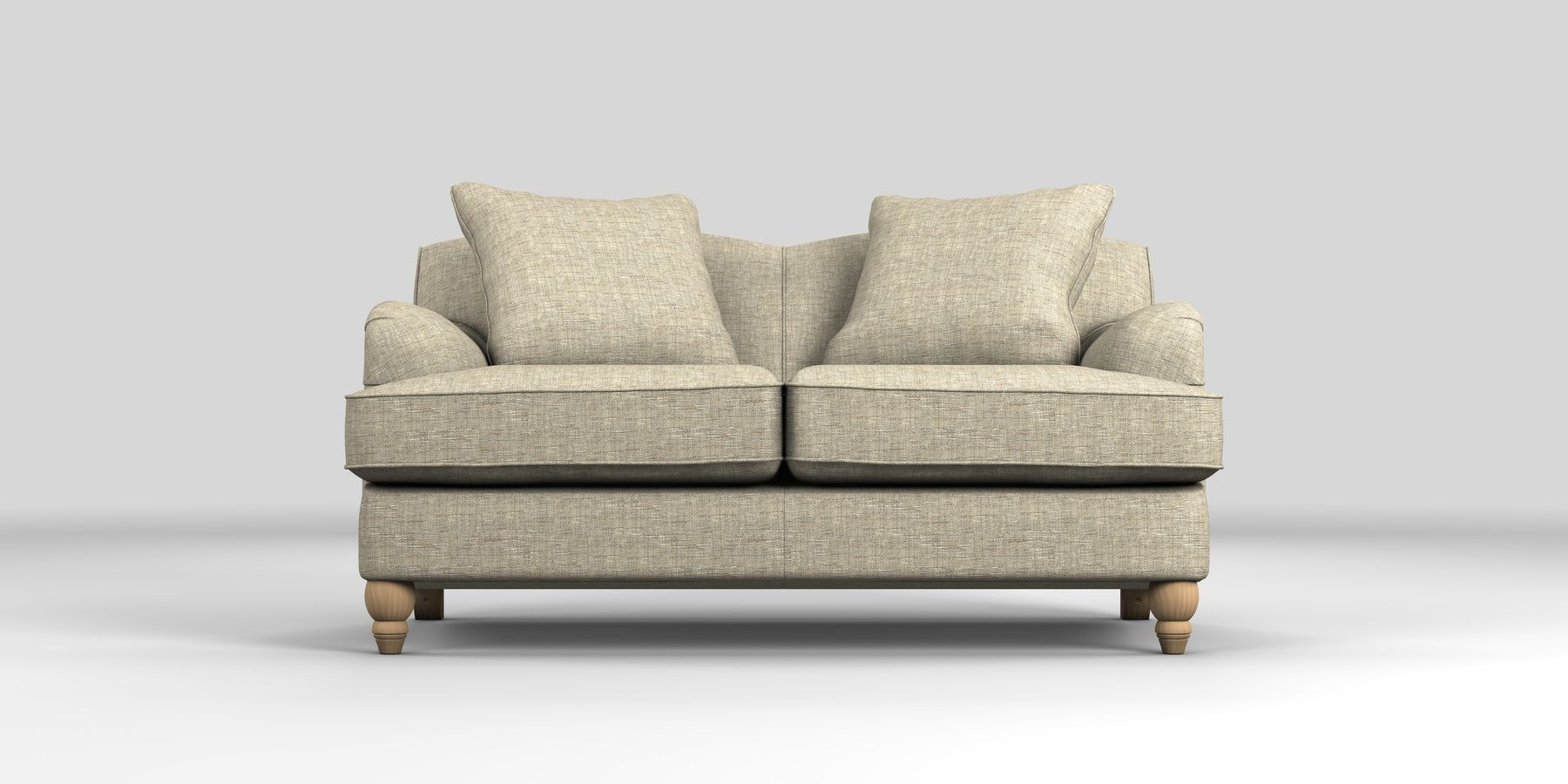 Ophelia Fixed Back Small Sofa Seats Boucle Weave Light Dove Low Turned From The Next Uk Online