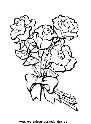Rosen Ausmalbild Malvorlagen Blumen Vogel Malvorlagen Malvorlagen Fur Madchen