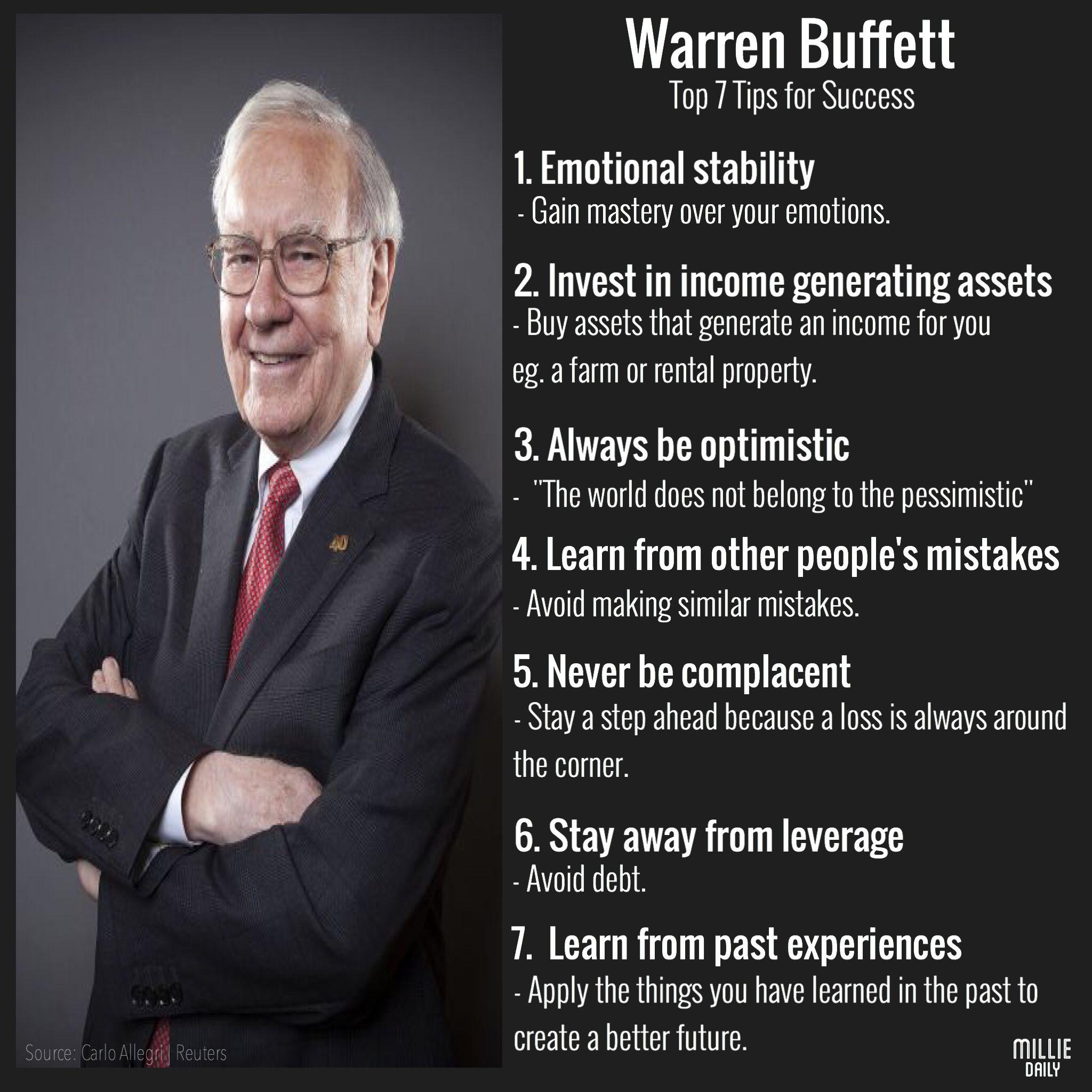 Warren Buffett's Top 7 Tips For Success Success, Warren