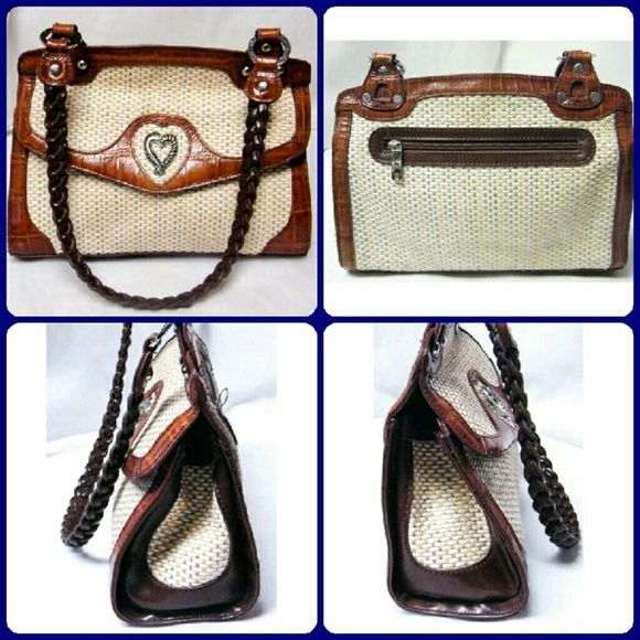 Marc Chantal Croc Sand Weave Shoulder Bag Up For Auction Is A Pre Owned M This Purse In Excellent Condition Measures Height Length Strap Drop By