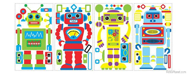 image of Build Your Own Robot Wall Decals
