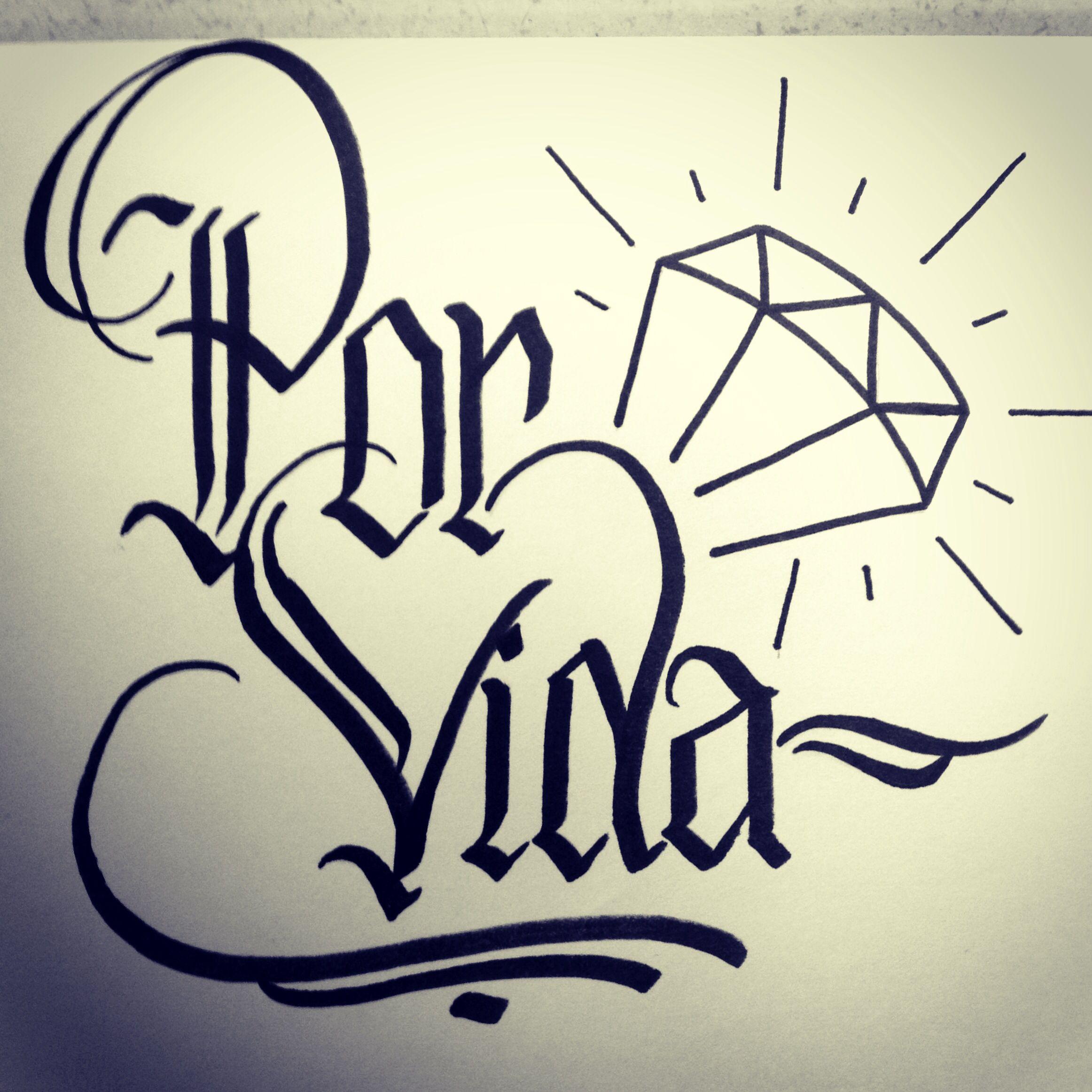 Quot por vida calligraphy graphic design and custom