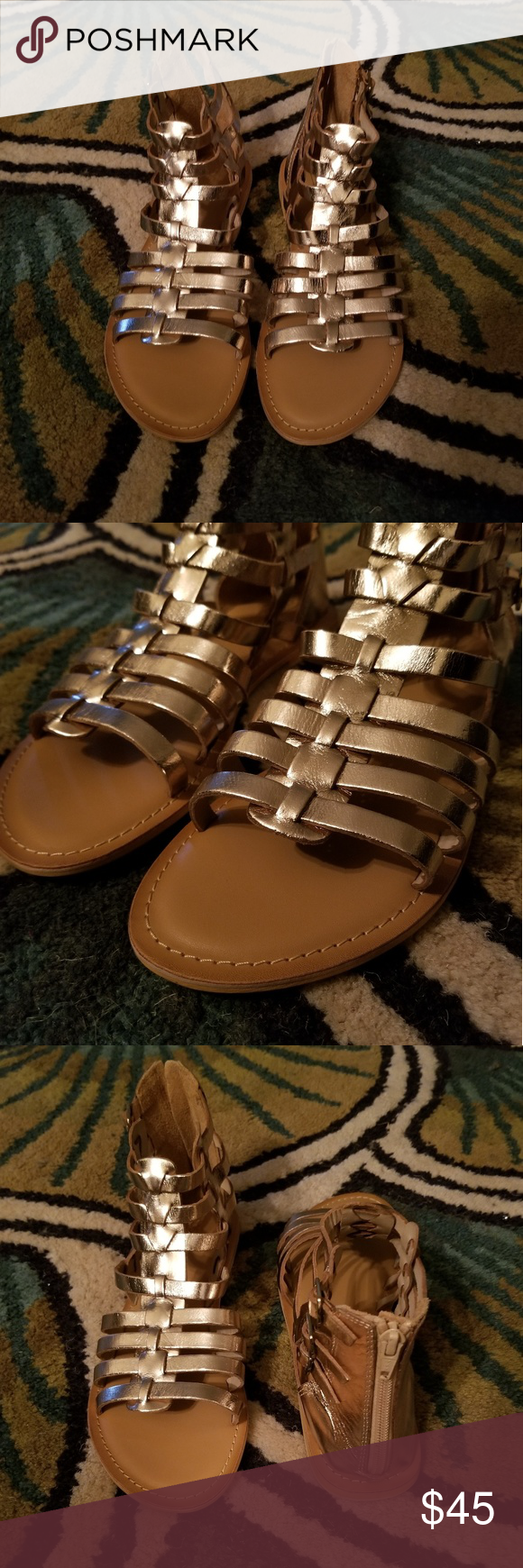 1ddc717c11 💥Hot Stuff💥NWOT ASOS FOZ Leather Gladiators These cute ASOS FOZ Leather  Gladiator Flat