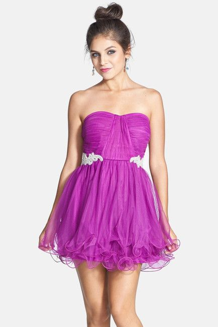 7cd9e0dff84 Trixxi Embellished Mesh Party Dress (Juniors) on shopstyle.com ...