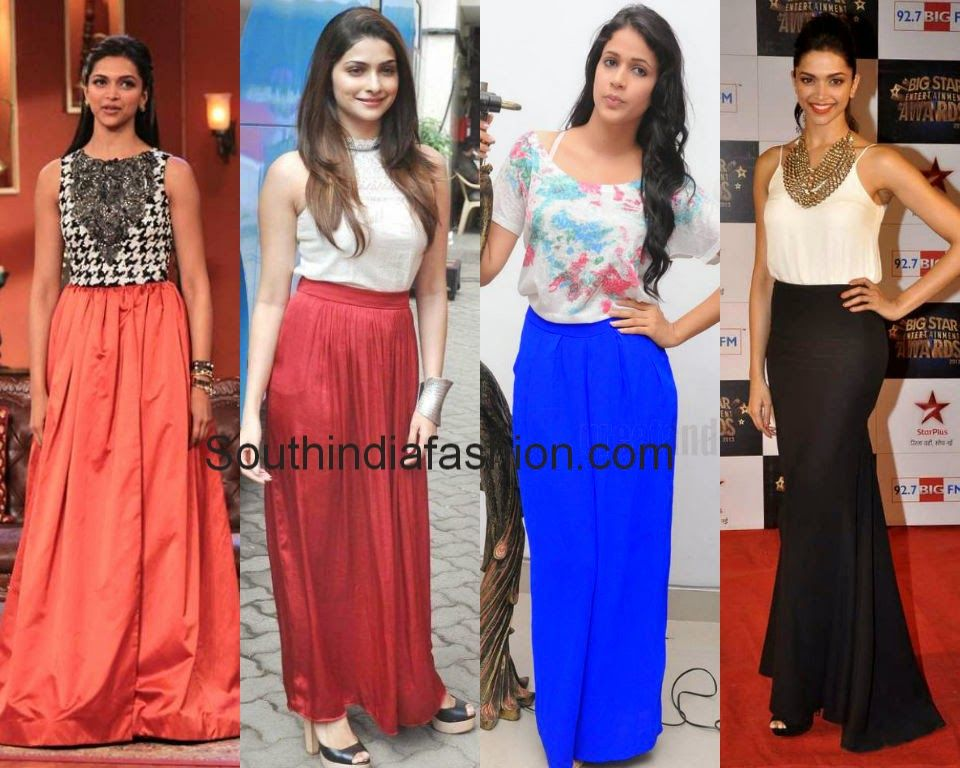 bollywood celebrities in long skirts | Fancy Indo Fusion ...