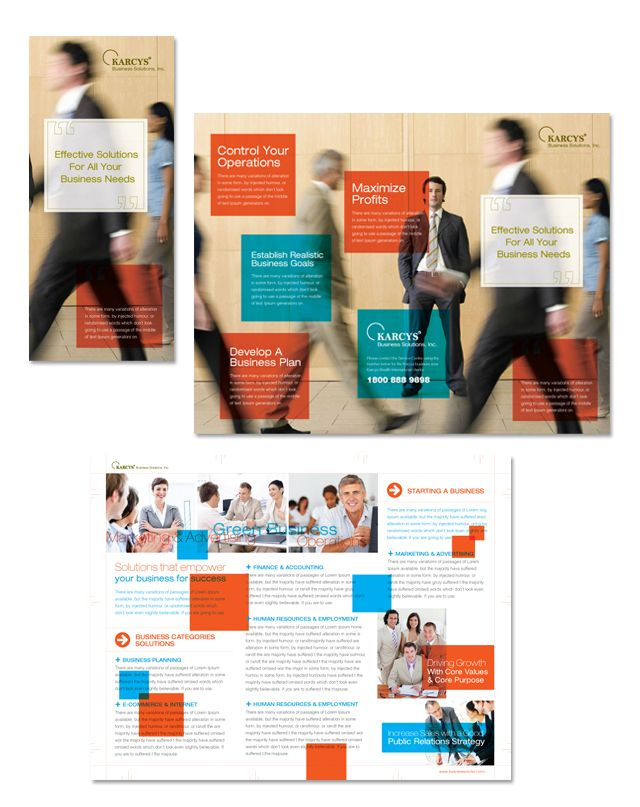 Business Solutions Consultant Tri Fold Brochure Template  Http://www.dlayouts.com