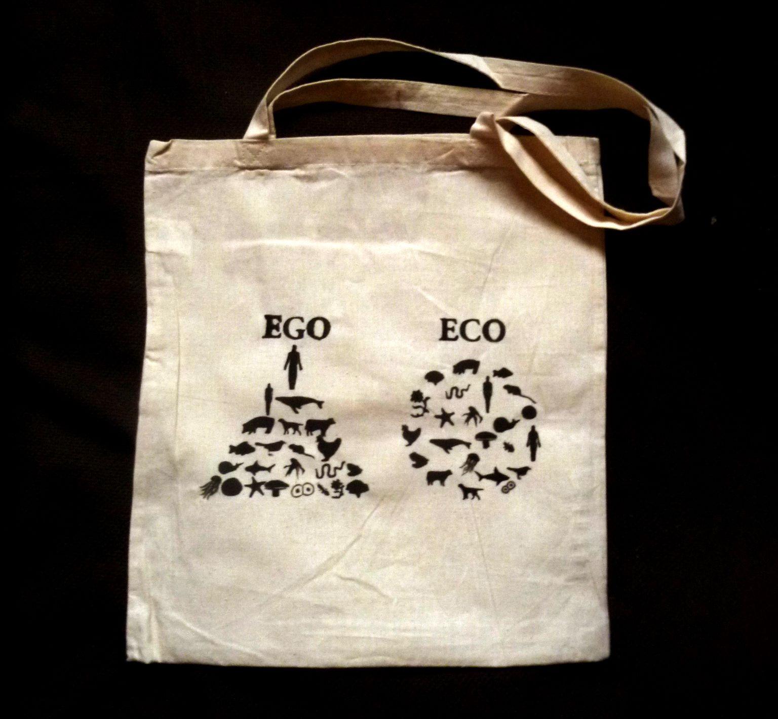 8b01171853 Ego - Eco Originální plátěná taška s malbou a nápisem Je ideální např. na  učebnice