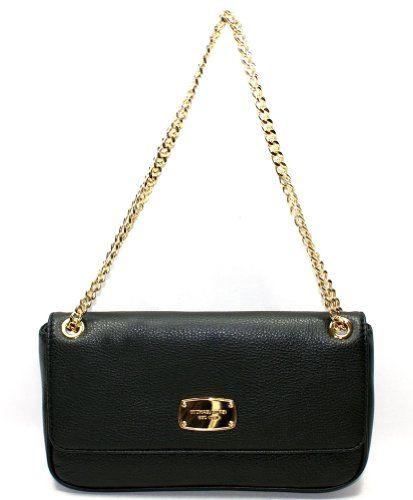 Michael Kors Jet Set Chain Leather Small Shoulder Flap Bag, Black ...