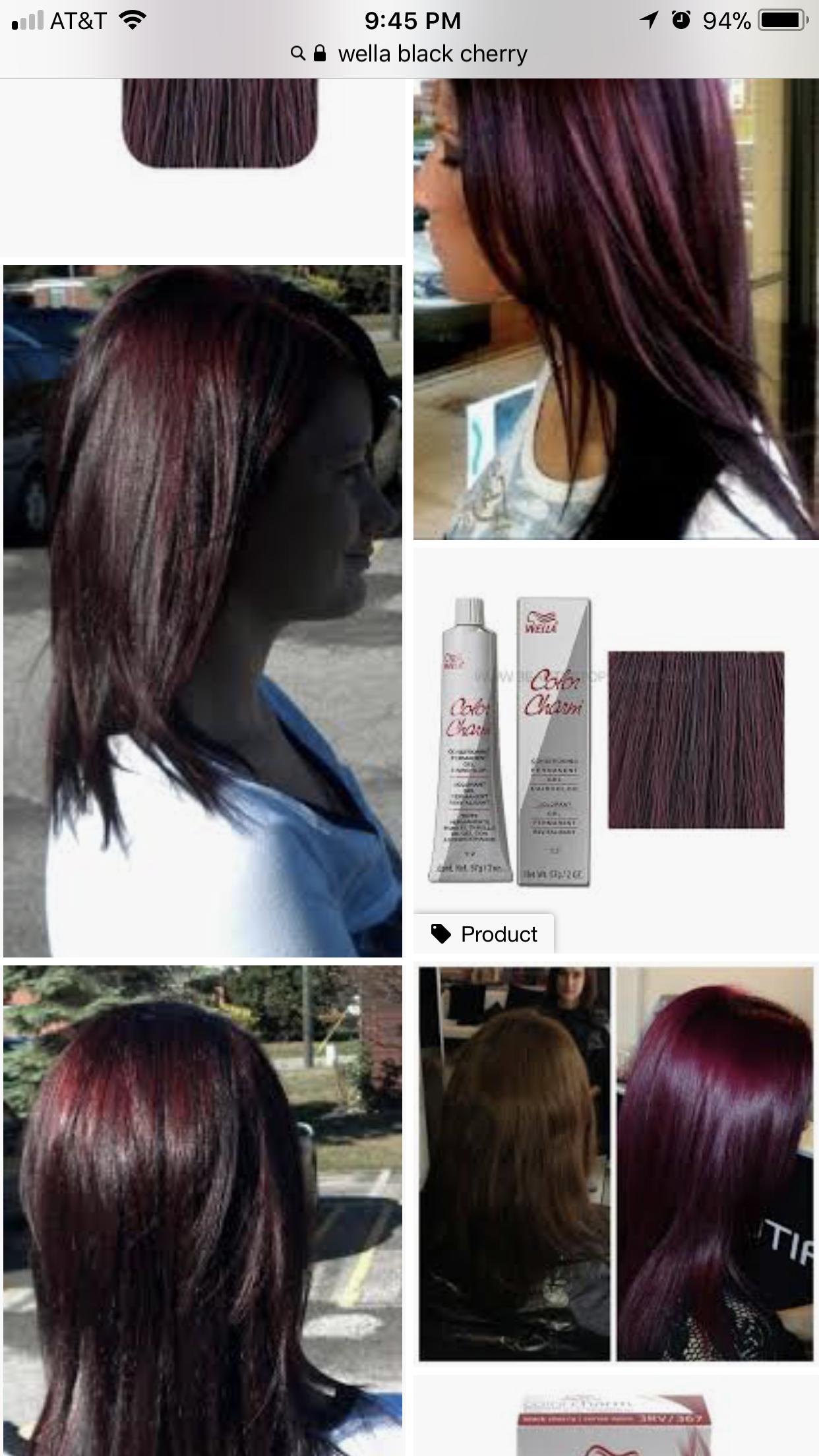 Wella Black Cherry In 2019 Black Cherry Hair Color