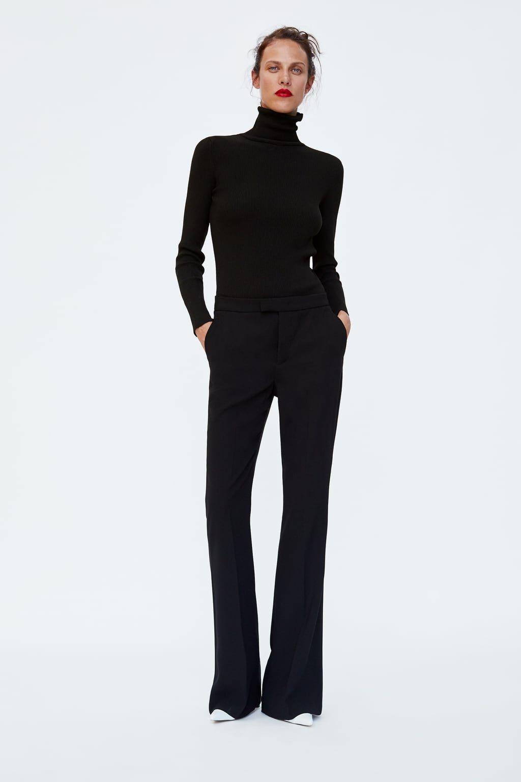 Broek met wijd uitlopende pijpen   Flare jeans outfit