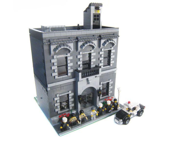 Cb001 Police Precinct Lego Moc Mod Pinterest Police Precinct