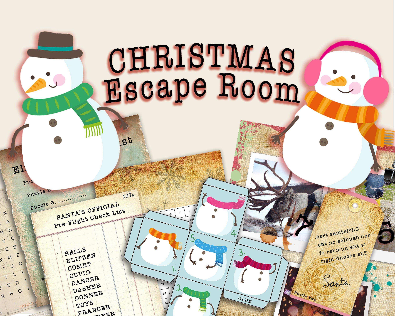 Escape Room Game Diy Printable Christmas Themed Escape
