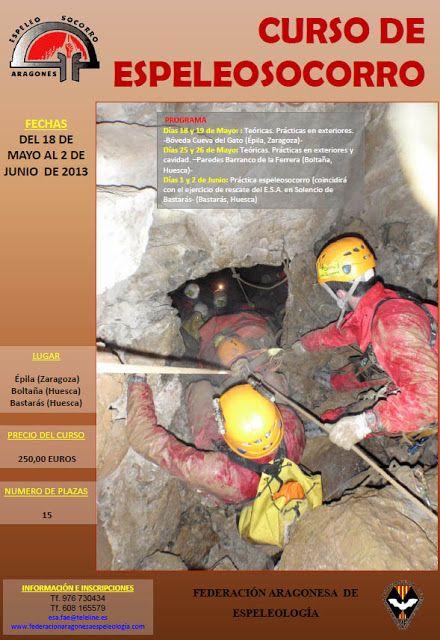 Curso de espeleosocorro del GE aragonés (18 de may...