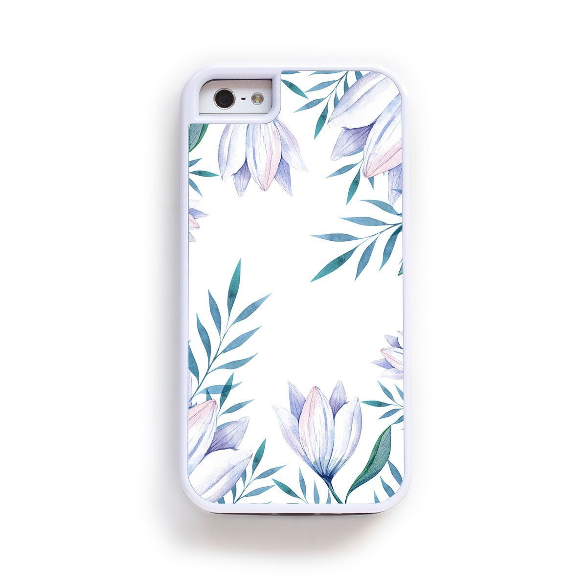 Purple lily flower abstract boarder on white for iPhone 6
