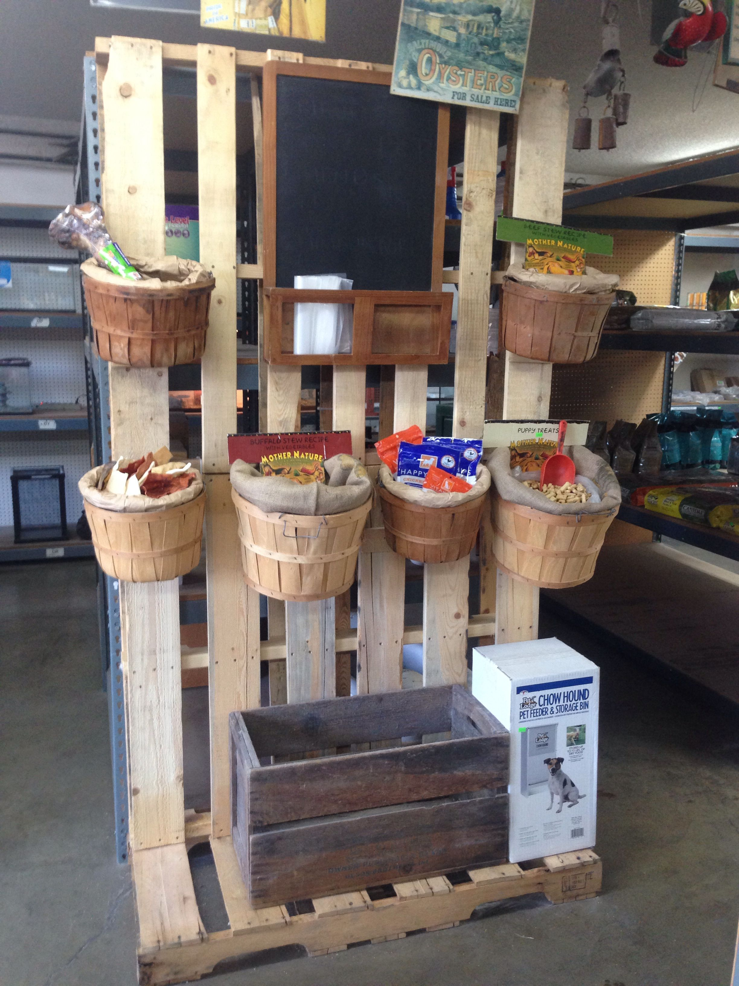 Dog treats display BARTON S BARKERY Pinterest