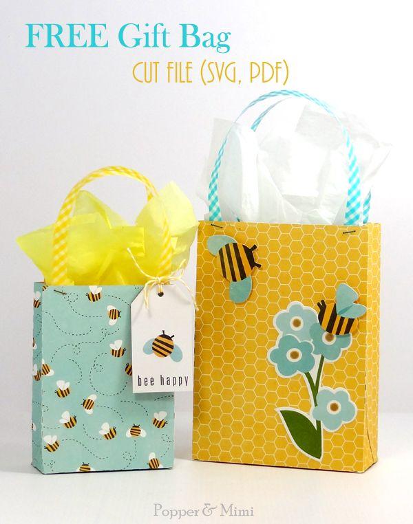 Free Gift Bag Svg And Pdf Cut File Popperandmimi