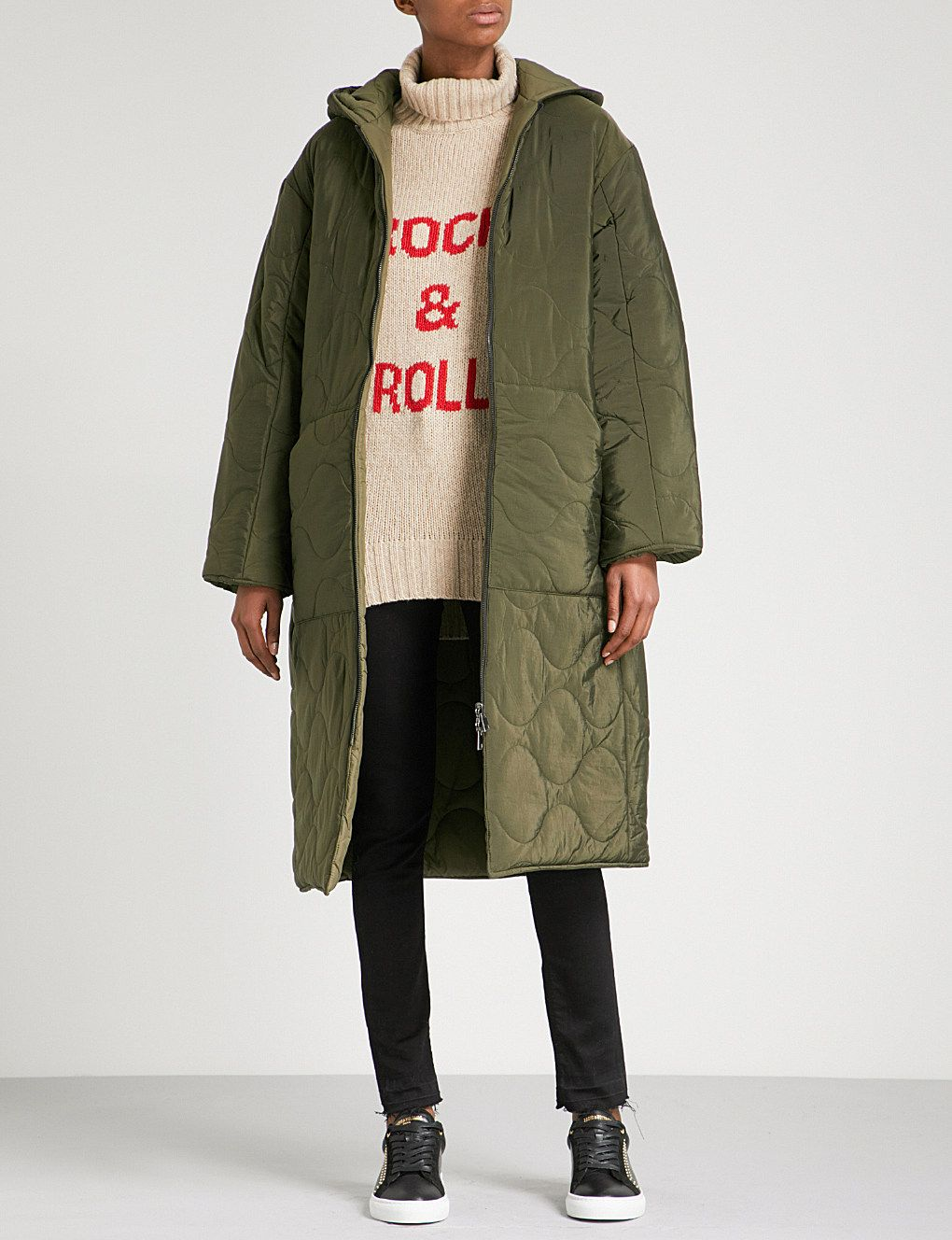 ZADIG & VOLTAIRE Koet hooded quilted shell parka coat