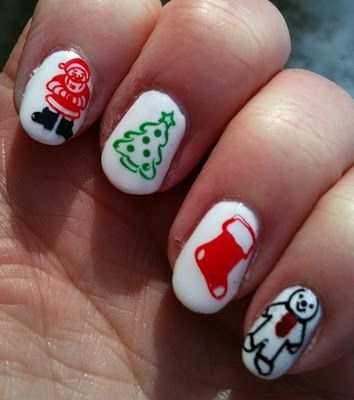 christmas  christmas nail designs nail art for kids