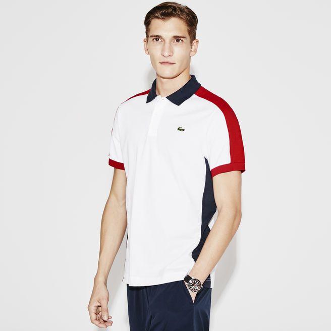 e952da33ba4 Polo regular fit Lacoste SPORT de tricot ultraleve tricolor