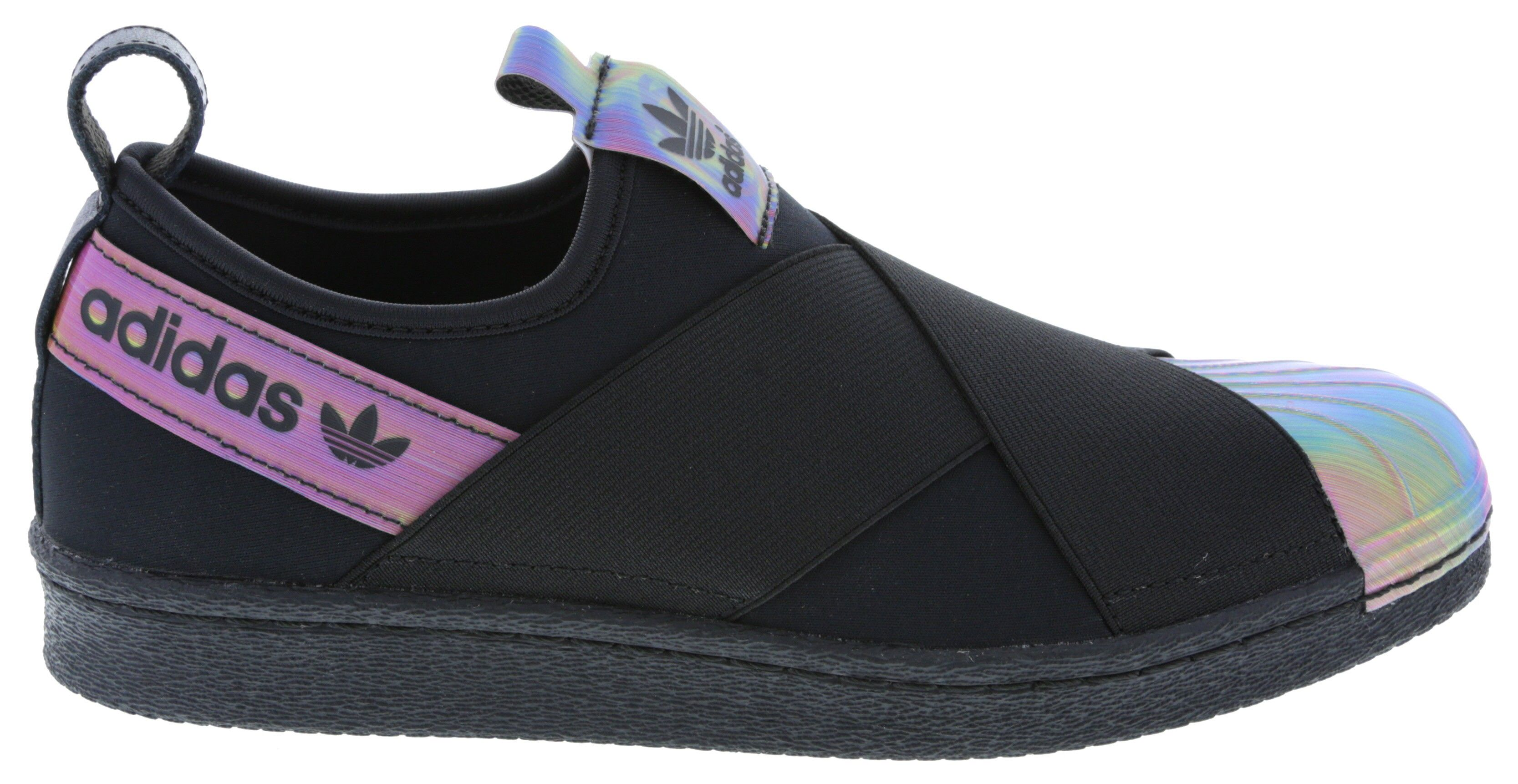 cheap for discount a906b 60c8a UK Rita Ora Superstar Slip-On Sneakers in Black & Rainbow ...