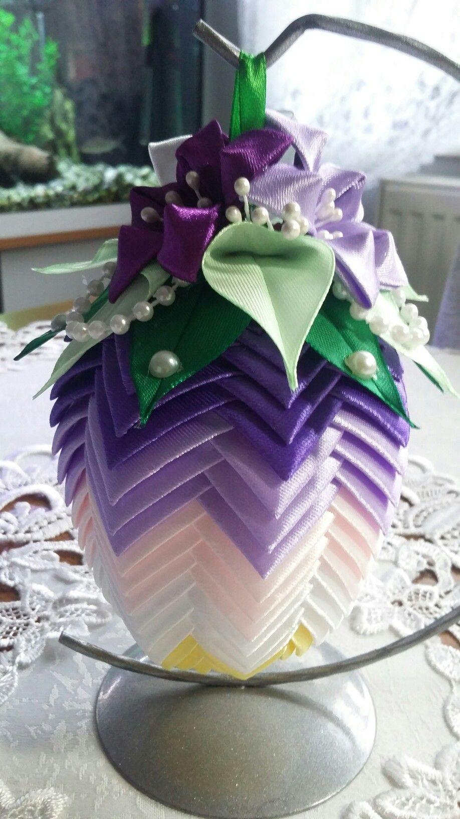 Jajko Wielkanocne Uovo Di Pasqa Origami Christmas Ornament Christmas Origami Diy Christmas Ornaments