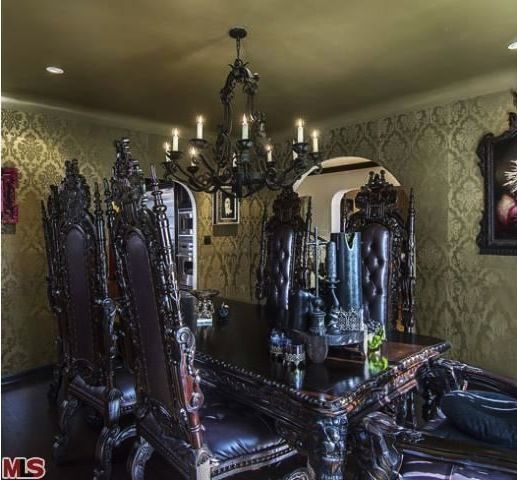 Chairs I Want Dark Gothic Style House Kat Von D Lists Her Home
