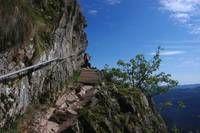 Klettersteig Vogesen : Fahrtzeit 1 std. 40 min der felsenweg am col de la schlucht u2013 le