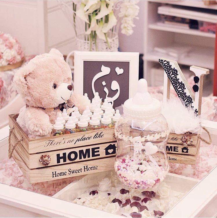 مجموعة ضيافة مولود كاملة للاستفسارات على الواتس 0556515388 وردة ورد ورود هدية زهور زهرة ورد طبيعي وردة طبيعية شي Gifts Sweet Home Sweet